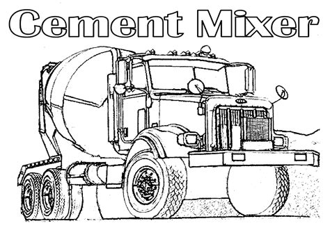 coloring pages cement truck coloring pages of monster trucks az coloring pages
