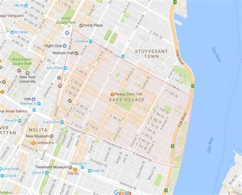 map of new york villages new york city east neighborhood map