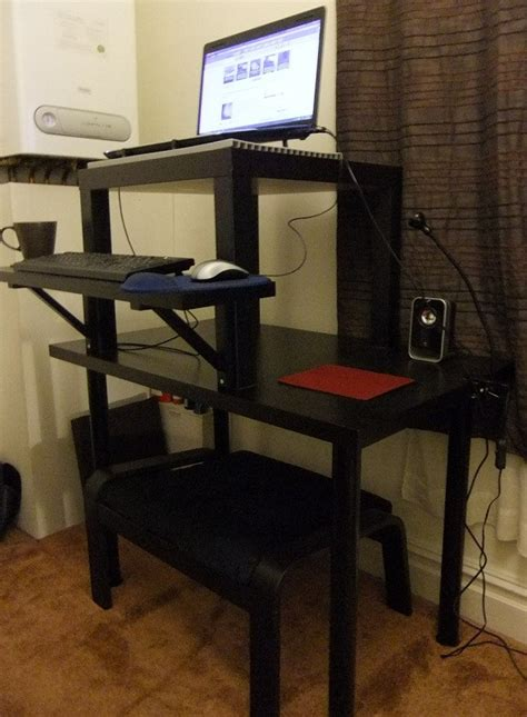 how to build a cheap standing desk from ikea and what it
