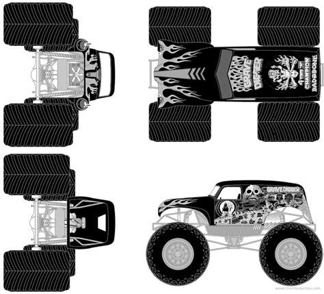 grave digger monster truck specs blueprints gt cars gt various cars gt grave digger monster truck