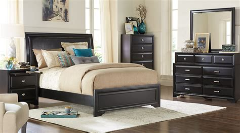belcourt black  pc queen upholstered bedroom queen