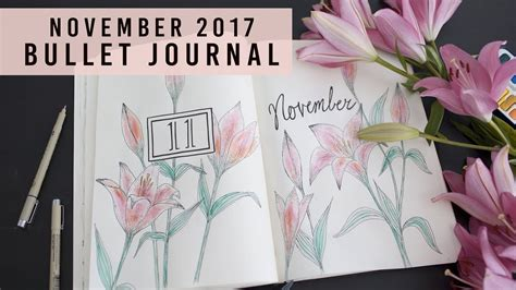 plan with me november 2017 bullet journal ideas