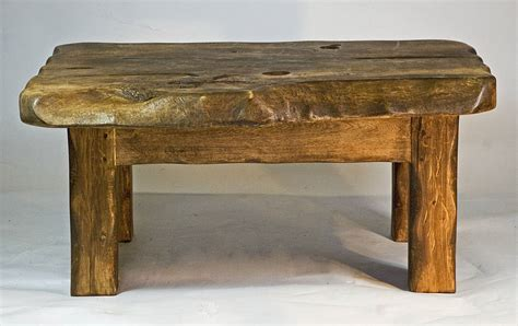 Small Wood Coffee Table Rustic Handmade Small Wooden Coffee Table By Kwetu Notonthehighstreet
