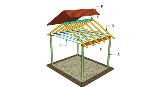 outdoor shelter plans picnic pavilion plans free images