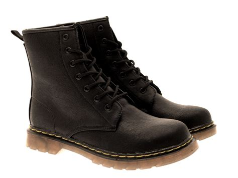 boots shoes for womens boys ankle boots lace up faux patent