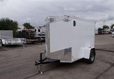 trailer swing doors 5 x 8 white cargo trailer with rear double swing doors