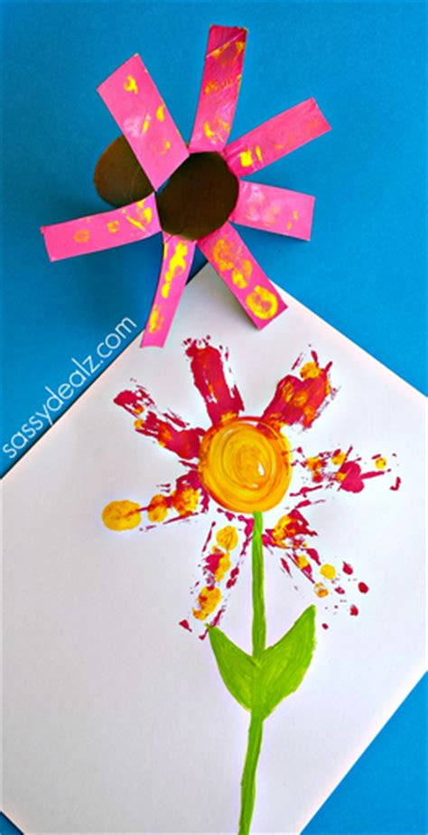 Toilet Paper Roll Flowers Craft - flower craft for using a toilet paper roll crafty