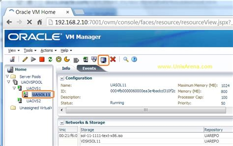 tutorial oracle vm manager how to take console of oracle vm guest page 2 of 3