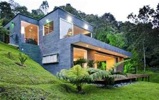 Hillside Cabin Plans by Small Modern Hillside House Plans With Attractive Design