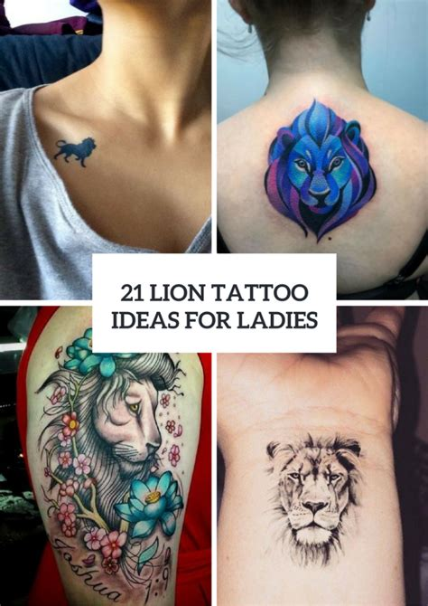 lion tattoos for girls for www pixshark images