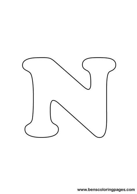 N Drawings free letter n coloring page