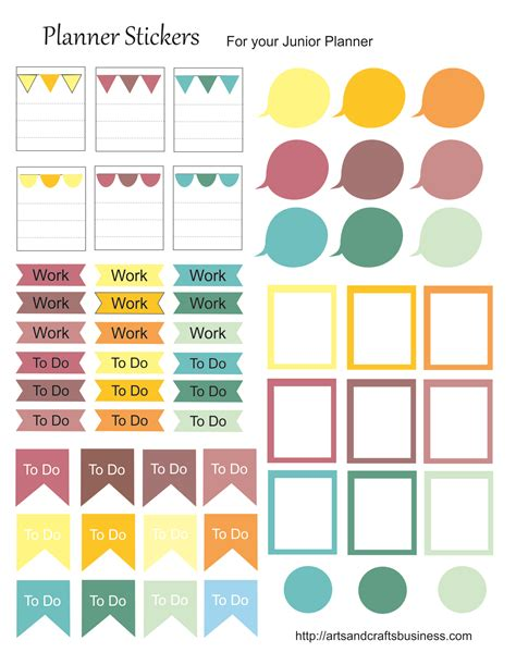 to do stickers free stickers for your planner arts and crafts business