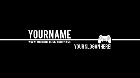 Youtube Banner Wallpaper Wallpapersafari Free Gaming Banner Template