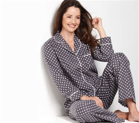 K09 Polka Black Longpants Piyama womens polka dot pajamas clothing