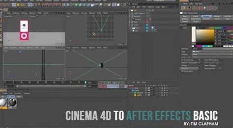 tutorial after effect cinema 4d cinema 4d to after effects basic workflow cg daily news