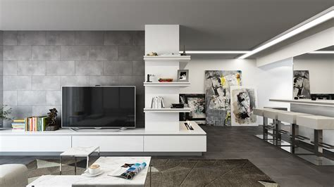 white and gray studio apartment with best plan setting 5 posh apartment interiors