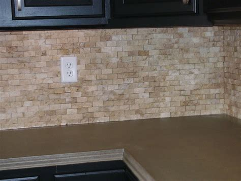 stone tile kitchen backsplash natural stone subway tile backsplash home design ideas