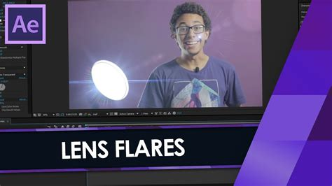 tutorial after effects optical flares como fazer lens flare com optical flares no after effects