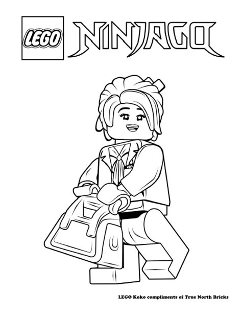 coloring pages lego ninjago movie lego colouring page koko true north bricks