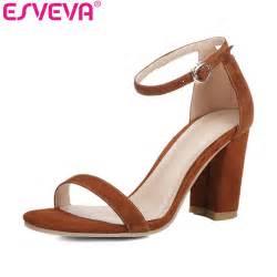 esveva 2017 concise summer peep toe sandals square high