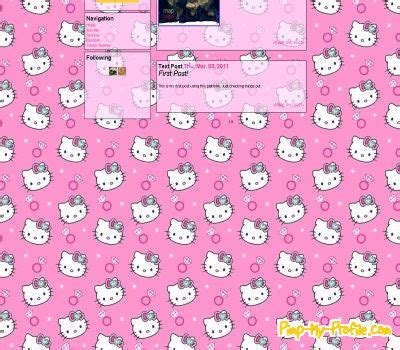 hello kitty tumblr themes free baby pink hello kitty tumblr themes pimp my profile com