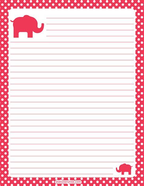 printable paper elephants printable elephant stationery