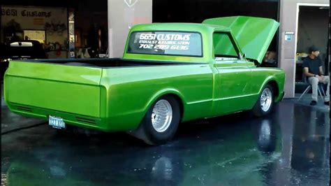 green paint sles 1970 chevy c10 6651 customs youtube