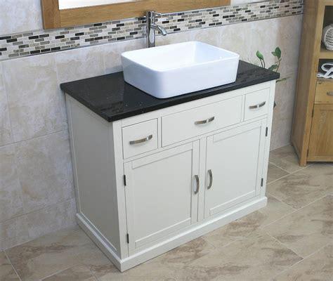 Painted Wood Vanity Unit bathroom vanity unit painted wood wash stand black quartz ceramic basin ebay
