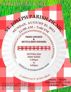 Church Picnic Flyer Templates by Parish Picnic August 21