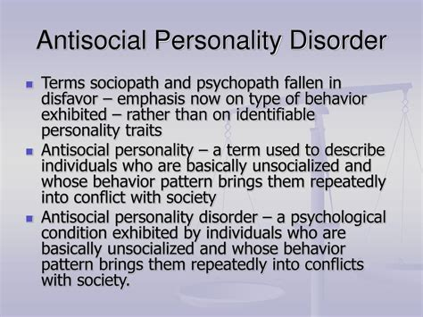 anti social personality disorder ppt criminology today powerpoint presentation id 1223954