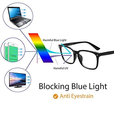 blue light eye fatigue cyxus blue light filter computer glasses for blocking uv