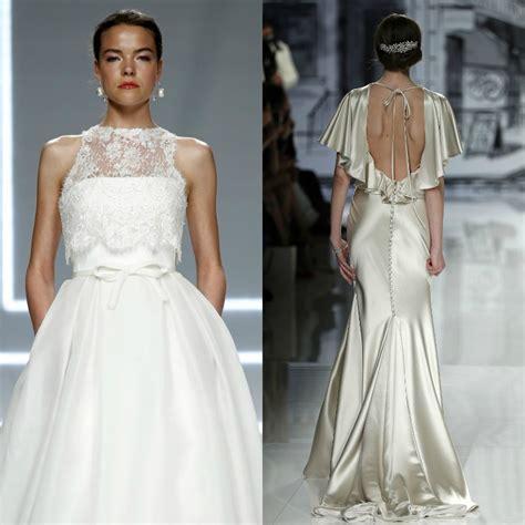 tendencias de boda 2017 vestidos de novia de dos piezas fotos foto tendencias 2017 vestidos de novia de volantes vs lazos