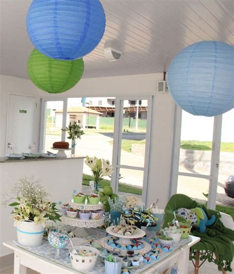 Blue And Green Baby Shower Decorations by Elephants Blue And Green Baby Shower Ideas