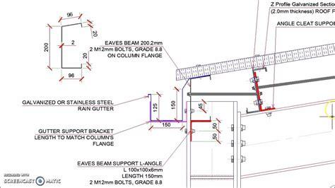 portal frame design youtube steel hangar portal frame roof eaves beam detail youtube