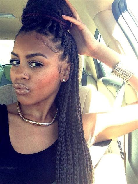 how do you do the bun in box braids the 411 on box braids why they re great and how to wear