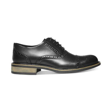 steve madden madden ziggy cap toe dress shoes in black for