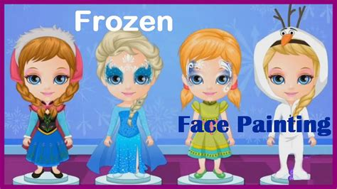 painting free play baby frozen painting play
