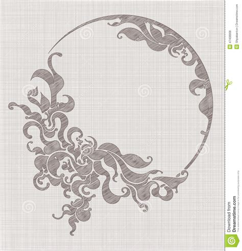 abstract embroidery pattern abstract embroidery or design illustration stock vector