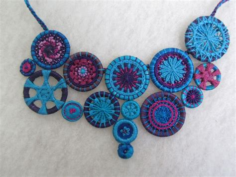 Handmade Jewellery Dorset - necklace of thread buttons by barbara schey sydney