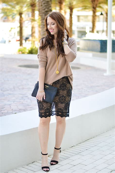 Ways To Wear Lace by Lace Pencil Skirt Of Fashion