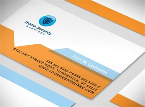 Security Systems Business Card Template by Document Moved