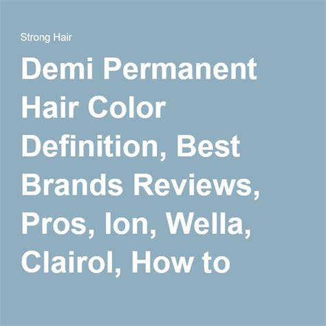 Demi Permanent Hair Color Definition Best Brands | 17 images about wella on pinterest powder coarse hair