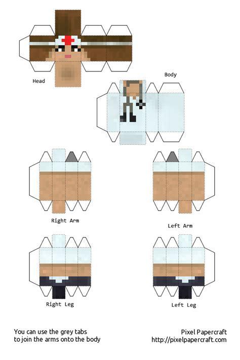 papercraft minecraft xbox 360 skin pack 1 minecraft