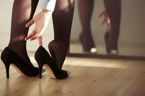 why are pantyhose so comfortable men more likely to be helpful to women in high heels