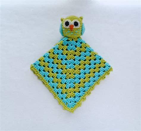 Crochet Owl Pattern Blanket by Owl Lovey Security Blanket Pdf Crochet Pattern Instant