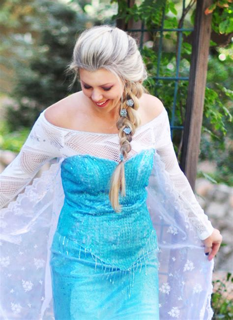 Elsa Handmade Costume - diy frozen elsa snow costume let it go