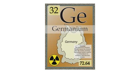 Germanium Periodic Table by 32 Germanium Ge Periodic Table Of The Elements Poster