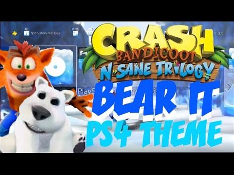 ps4 themes crash totally bear ps4 theme crash bandicoot n sane trilogy