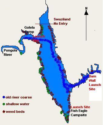 jozini tiger fishing boat hire jozini dam fishing map