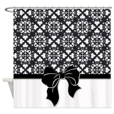 damask shower curtain black and white black and white damask shower curtain by cheriverymery